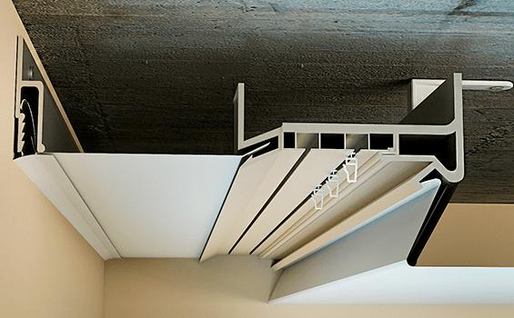 Алюминиевый карниз под нтяжной потолок