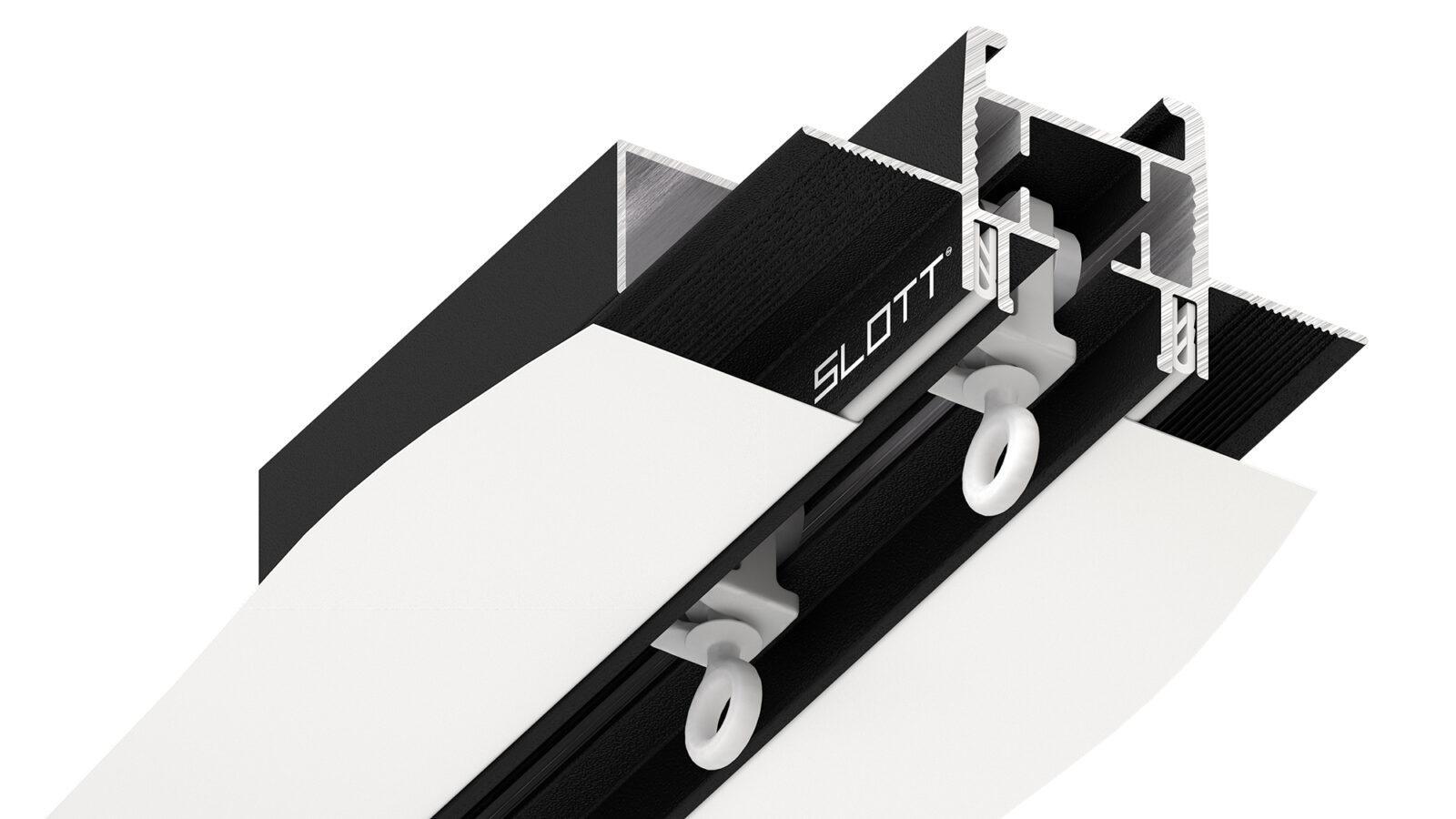 Механический карниз под натяжной потолок