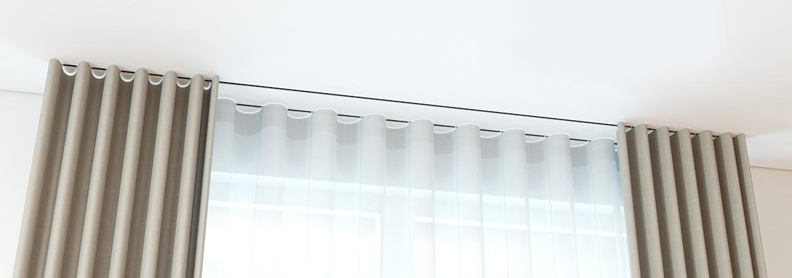 Карниз с открытым креплением под натяжной потолок
